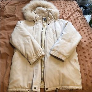 Bromley Sport Tan Winter Coat w/Removable Hood